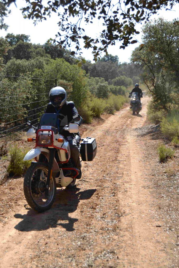 Ruta circuito curso moto trail off road